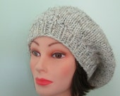 Chunky Knit Slouchy Hat With Beads