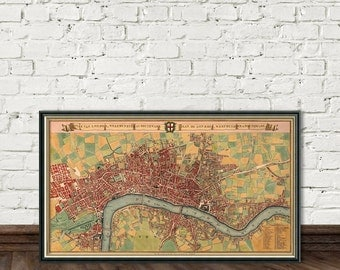 Old map of London - Historic map fine reproduction - London map