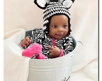 Zebra Earflap Hat