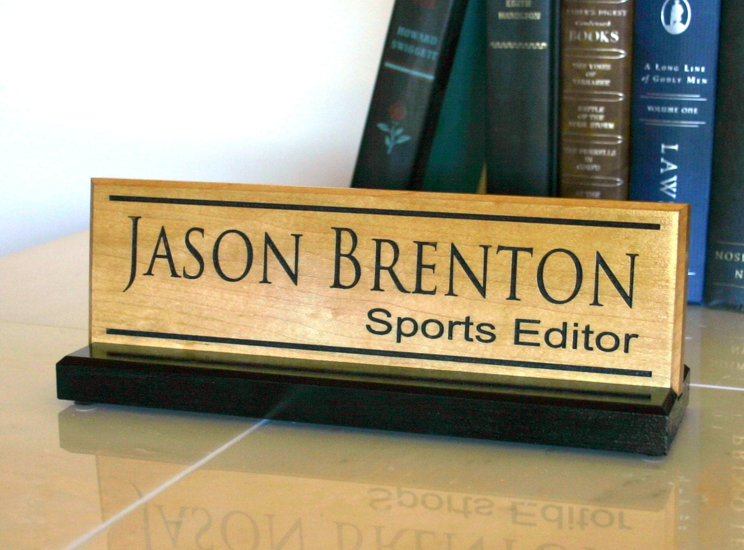 Name Plate: Desk Name Plate Personalized Desk Name Sign Door Name Plate