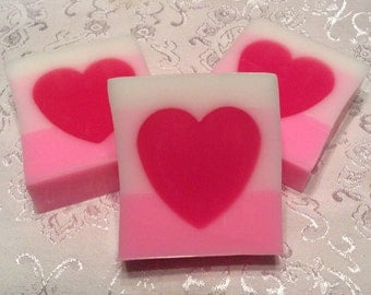 Oil LUV Olay, Valentine's Soap, love themed soap, pink heart soap, gift for girlfriend