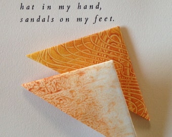 Origami Page Corner Bookmarks-Butterscotch