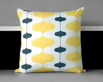"""Pillow Cover - Ivon Saffron Yellow, 20"""" x 20"""" Ready to Ship"""