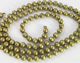 23 Inch Vintage 5mm Brass Ball Chain Unfinished Necklace Length Ch280