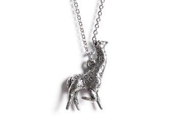 Giraffe Necklace - Animal Jewelry