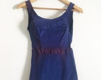 SALE_1950 navy blue bathing suit M (not in the best shape)