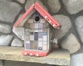 Birdhouse, Decorative Mosaic Glass Tile Hanging Bird's Nest Box, Functional Bird Houses For Garden Birds, Item BH25095