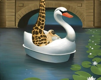 Art Print, 8x10, Illustration Print, Zoo Art, Children's Room Decor, Animal Art