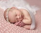 READY TO SHIP Baby Rhinestone Halo Headband Rhinestone Tie Back Headband Baby Headband Stunning Vintage Style Newborn Photo Prop
