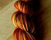 "Sock yarn - 75/20/5 SW Merino/Nylon/Stellina - Holiday - ""Winnie The Pooh Day"""