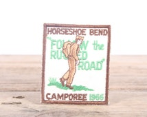Vintage 1966 Camporee Boy Scout Patch / Horseshoe Bend BSA Patch / Scouts Patch / Scout Badge / Alabama Patch / Boy Scouts of America