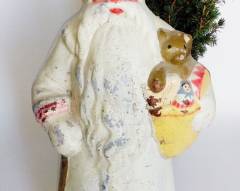 "18"" RUSTIC Santa Claus, Collectible, Vintage Christmas, Retro, Figurine, Father Frost,  Дед Мороз, Christmas Decor"