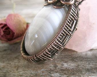 Howlite Copper Handmade Pendant