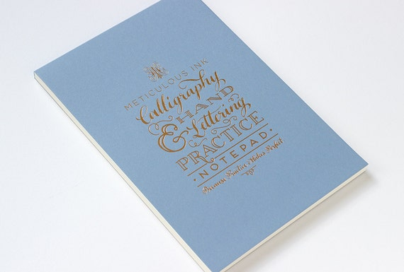 Hand lettering and calligraphy practice pad by meticulousink