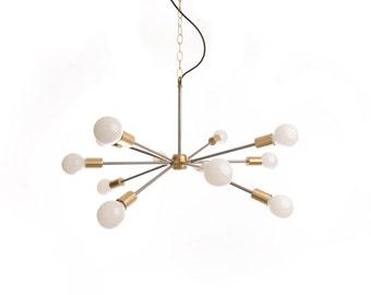 "Mid-Century ""Sputnik"" inspired chandelier"