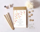 Instant Download - Baby Sprinkle - Pink, Coral, Gold and Blue Confetti Sprinkles - Shower Invitation, Custom Printable
