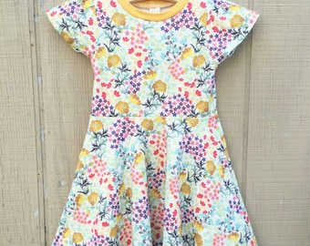 Floral Knit circle dress