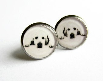 Labrador Earrings, Dog Jewellery, Labrador Retriever Jewelry, Dog Lover Gift, Resin Stud Earrings, Hypoallergenic