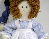 """Child Friendly 19"""" Handmade Doll, Removeable Clothes,Washable, Blue Dress"""