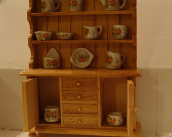 Choice for Dollhouse Kitchen, Storage & Cookware for Dollhouse Kitchen, One Each of 12 Pieces