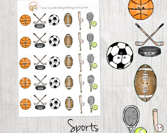 Sports Planner Stickers- Kawaii Sports -Perfect for all planners!