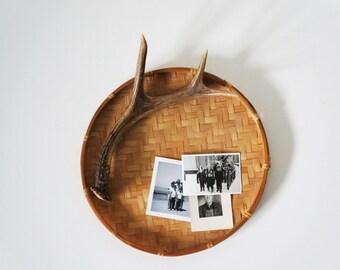 Vintage Tray, Winnowing Rice