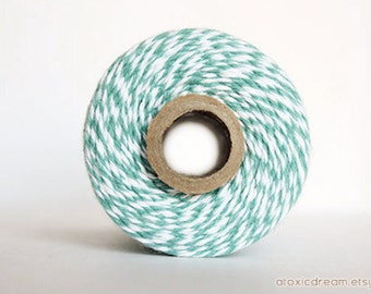 Ocean Teal Stripes Twine - 20/50/240 yds - by The Twinery