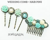 Wedding Hair Comb Hair Pins Set Customised Bridal Hair Accessories Bridesmaids Gift Bespoke Headpiece for Bride Made to Order