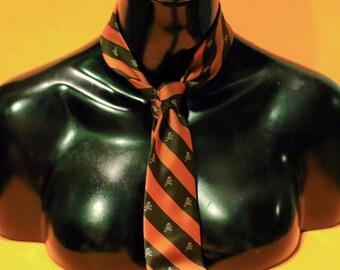 Vintage 90s Halloween Party Skull Bones Neck Tie Costume Unisex Child Accessories Clothing Gothic