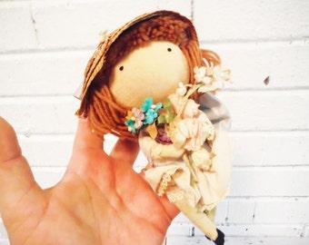 1966 Joan Walsh Anglund pocket doll sweet shabby retro girl