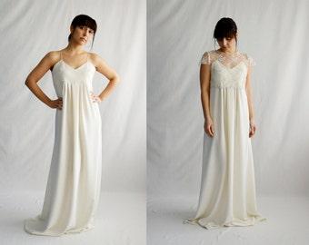 Simple wedding dress,Bridal gown,Boho wedding dress,Romantic wedding dress,Maternity wedding dress,Ivory wedding dress,Bohemian dress