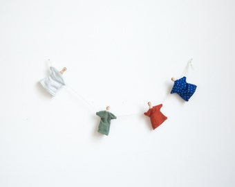 clothespin doll garland