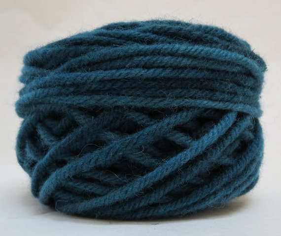 JEANS BLUE, 100% Wool, 2 Ozs. 43 yards, 4-Ply, Bulky weight and 3 ply Worsted weight, already wound into cakes, ready to use. Made to Order