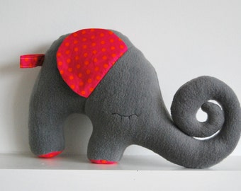 soft toy, elephant, grey, toys and games, stuffed toys, plushies, gift, baby shower, christening gift, birthday, handmade