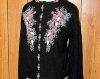 On Sale-Beautiful 1950's BEADED Sweater