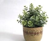 Mid Century Planter Pot Studio Pottery - Dots and Swirls