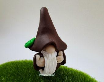 Ronpip The Encouraging Gnome ~ Gardener Miniature Gnome ~ Scandivanian Style Gnome