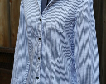 White Striped Button Up - Women's XS/S