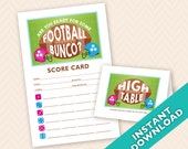 Are you Ready for Some Football Bunco Scorecard and Table Card Set