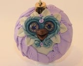 Pastel - Polymer Clay Owl Ornament