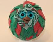 Jolly - Polymer Clay Owl Ornament