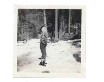 JUMP in the Snow snapshot found art photo vernacular photography fine art social realism found art photo vernacular photography fine art