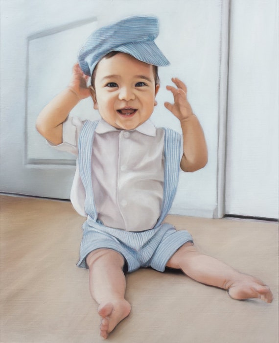 CUSTOM PORTRAIT - Custom Painting - Oil Painting of Baby