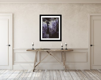 Wisteria Photography, Purple Flower Print, Botanical Art Print, Nature Photograph, Feminine Picture, Cottage Artwork, English Garden Art