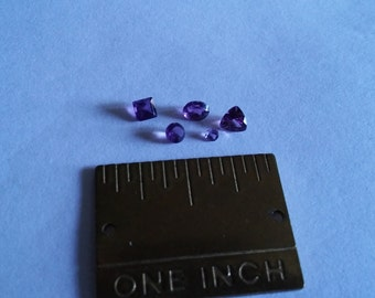 Five Amethyst Gemstones,Hand Cut & Polished,AAA,Ready To Be Set,Jewlery Supplies,You Receive The Exact Gem Pictured
