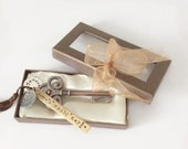 Santa's Magic Key - Personalized Bronze Key Ornament or Decor - New Home Gift  - Christmas Gift - Hostess Gift - Gift from Realtor