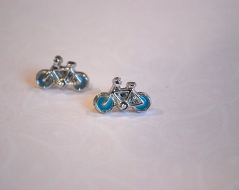 Bicycle Earrings -- Bicycle Studs, Cyclist, Cycling, Pick your favorite color!