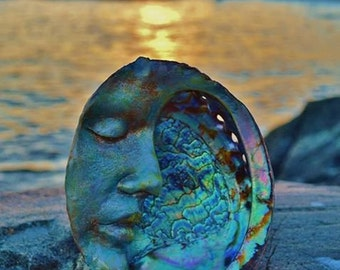 Moon Abalone Shell, Altar, Smudge, Mother of Pearl, By Shaping Spirit