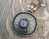 Custom changes Reserved for Ann Rainbow Moonstone Sterling Silver Necklace