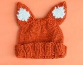 Knitting Kit: Beginners Super Chunky Fox Hat Pattern and Yarn